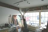 Jeanne working in the Salt Water Studio